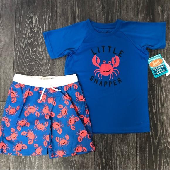 6a16ad3e1e678 Swim   Nwt Trunks Surf Co Boys Crab Set 7   Poshmark